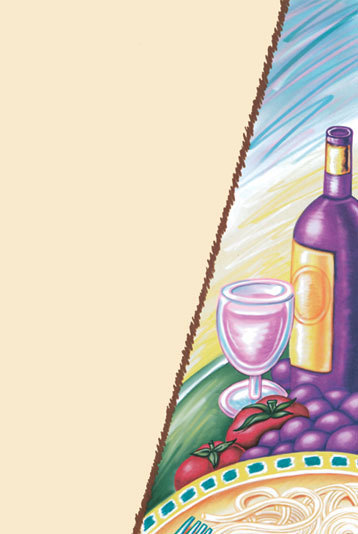 """8 1/2"""" x 11"""" Menu Paper - Wine Themed Bottle Design Cover - 100/Pack at Sears.com"""