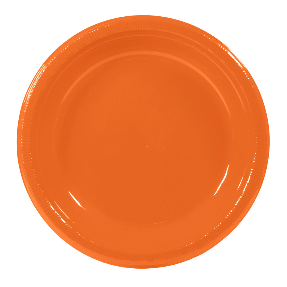 10 inch Sunkissed Orange Plastic Plate 240 / Case