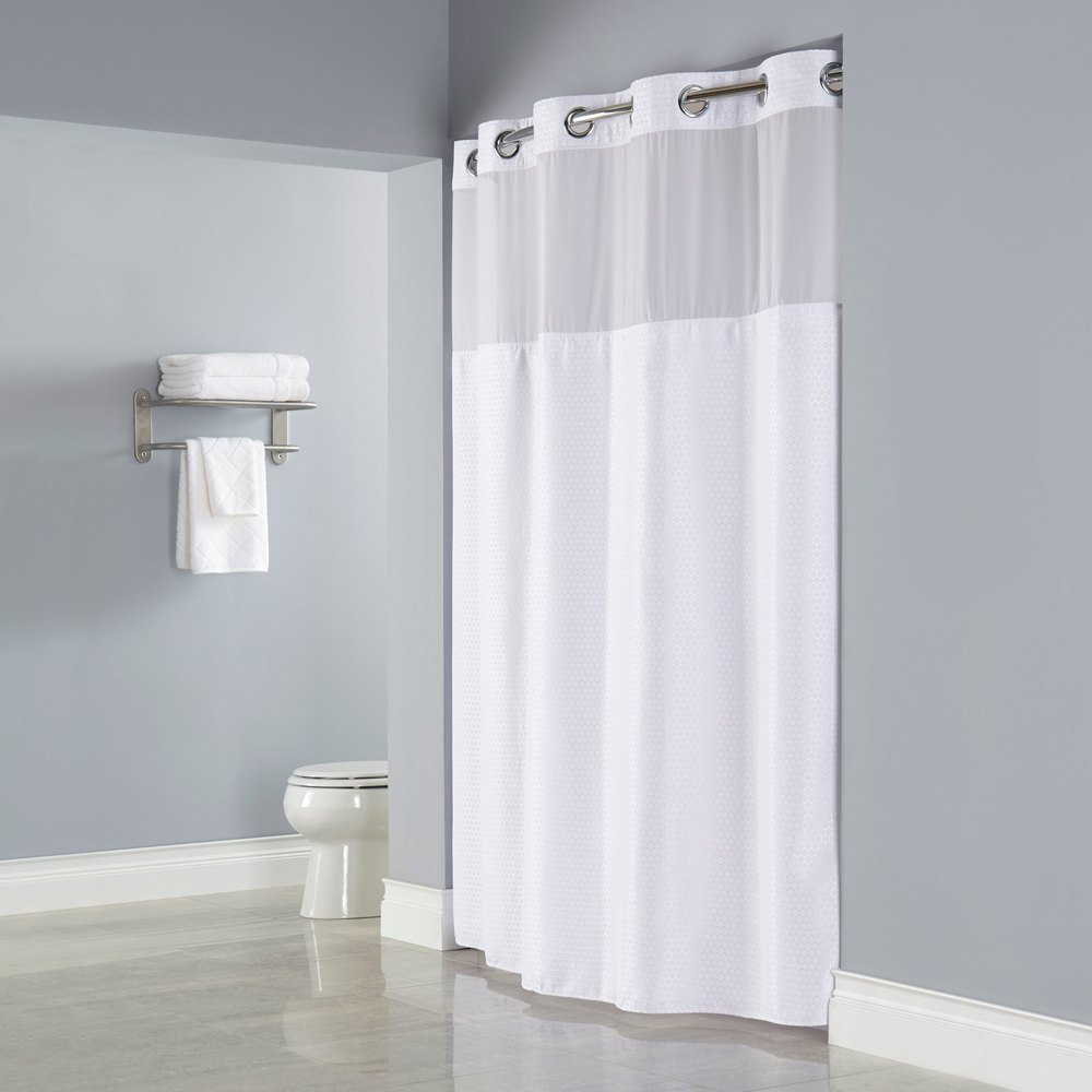 Snap on shower curtain liners curtain menzilperde net for Bathroom liner