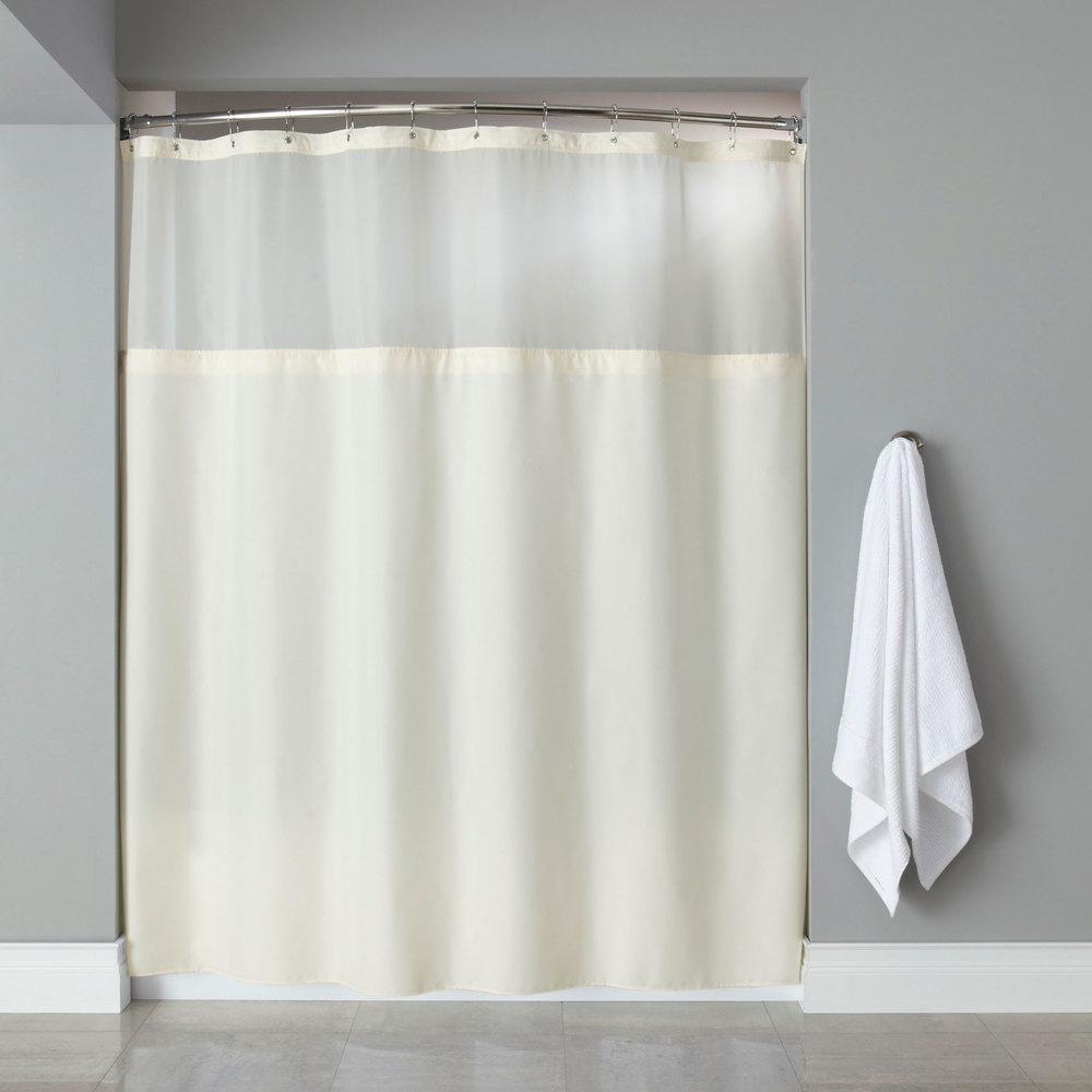 Hooked Hbg40mys05 Beige Polyester Premium Shower Curtain