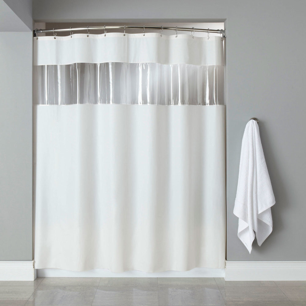 black and white bathroom window curtains hooked hbg03vis0172 white 6 vinyl vision shower 25124
