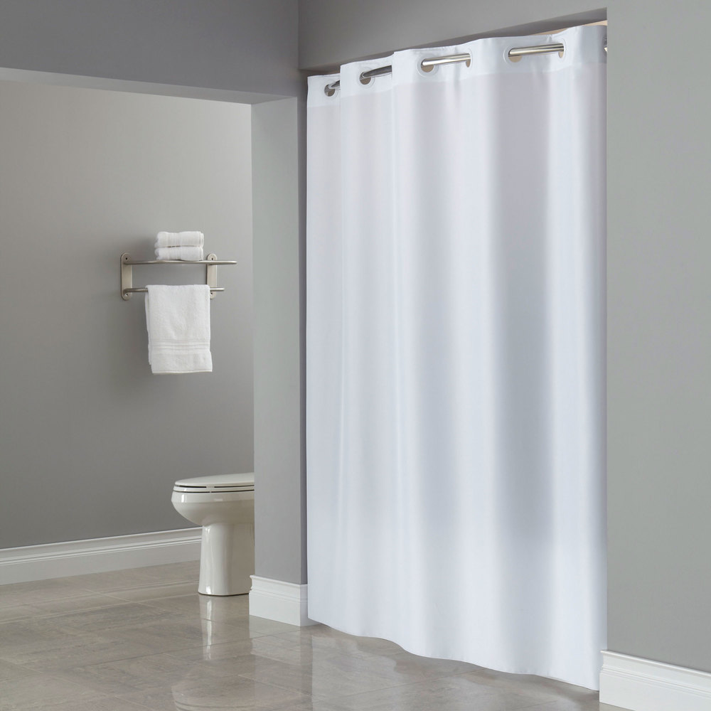 Hookless Hbh40plw01l White Ada Size Plainweave Shower
