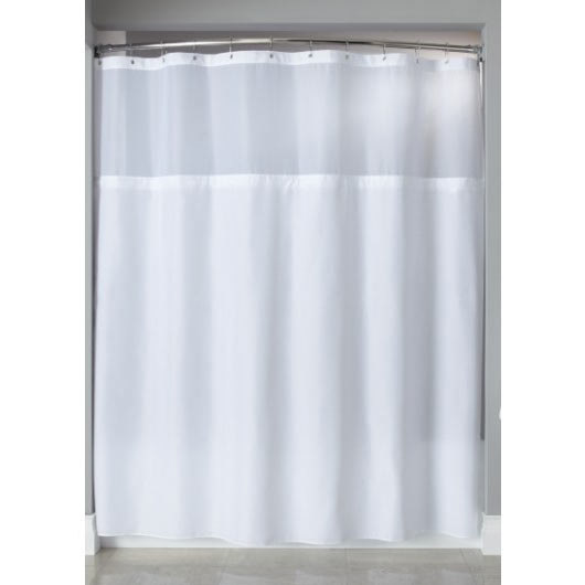 HBH40SL0557 Beige Polyester Shower Curtain Liner With Magnets