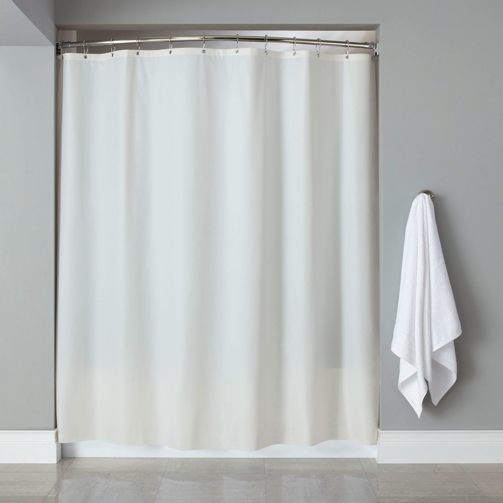 Navy And Cream Curtains Shower Curtain with Valance
