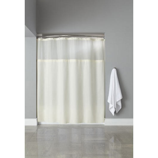 It\'s A Snap! HBH40SL0554 Beige Polyester Shower Curtain Liner with ...