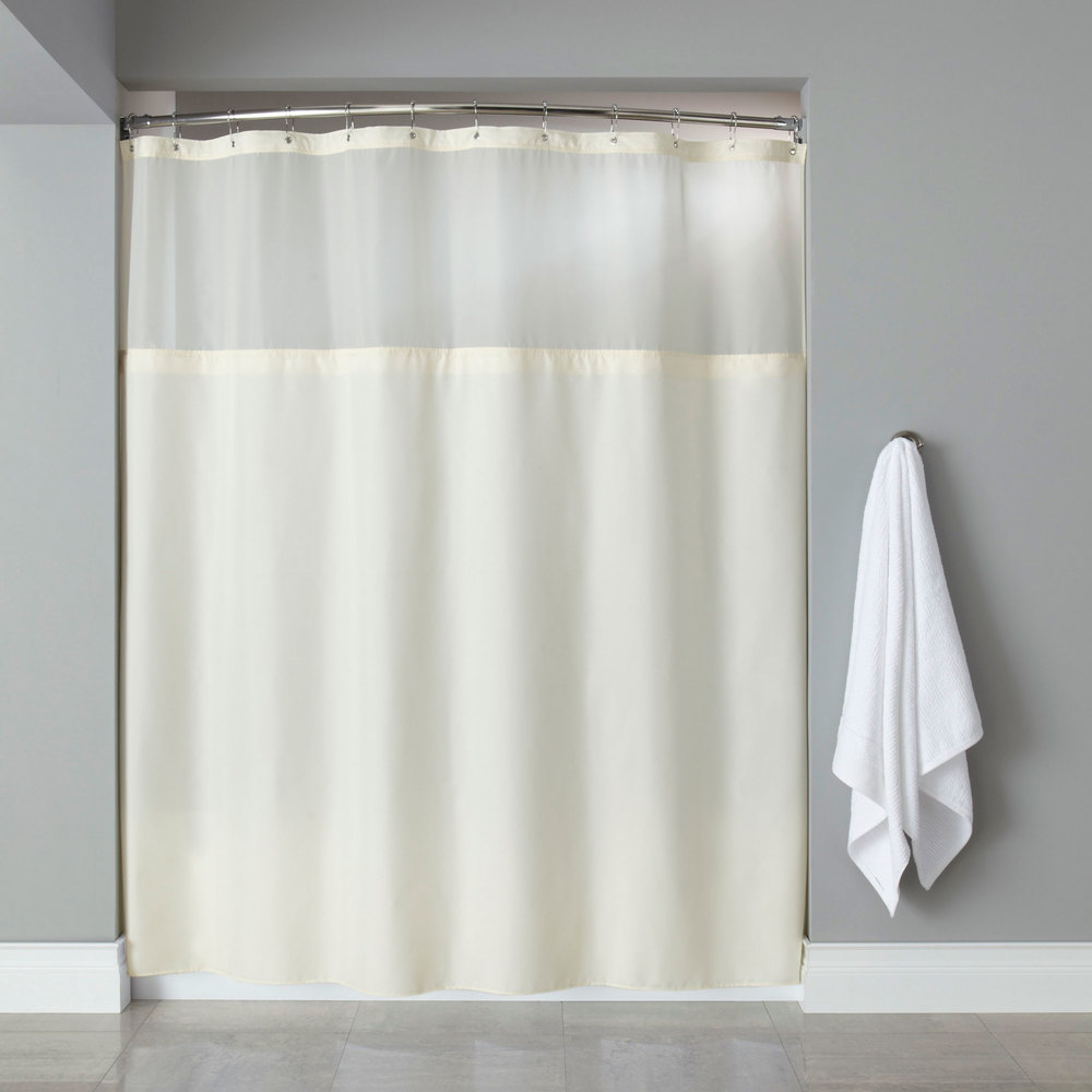 Hooked HBG40MYS05SL Beige Polyester Premium Shower Curtain