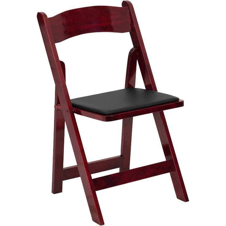 Flash Furniture XF 2903 MAH WOOD GG Mahogany Wood Folding Chair with Padded Seat