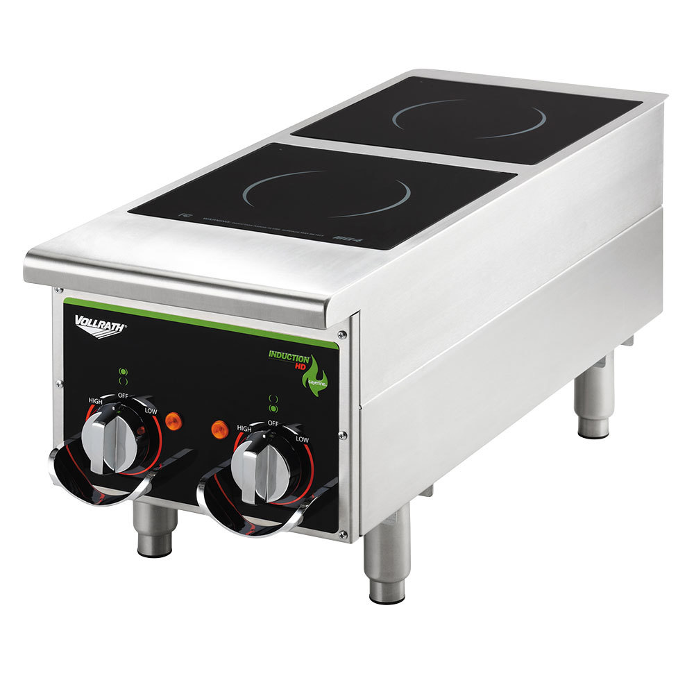 vollrath 912himc cayenne dual hob heavy duty induction hot. Black Bedroom Furniture Sets. Home Design Ideas