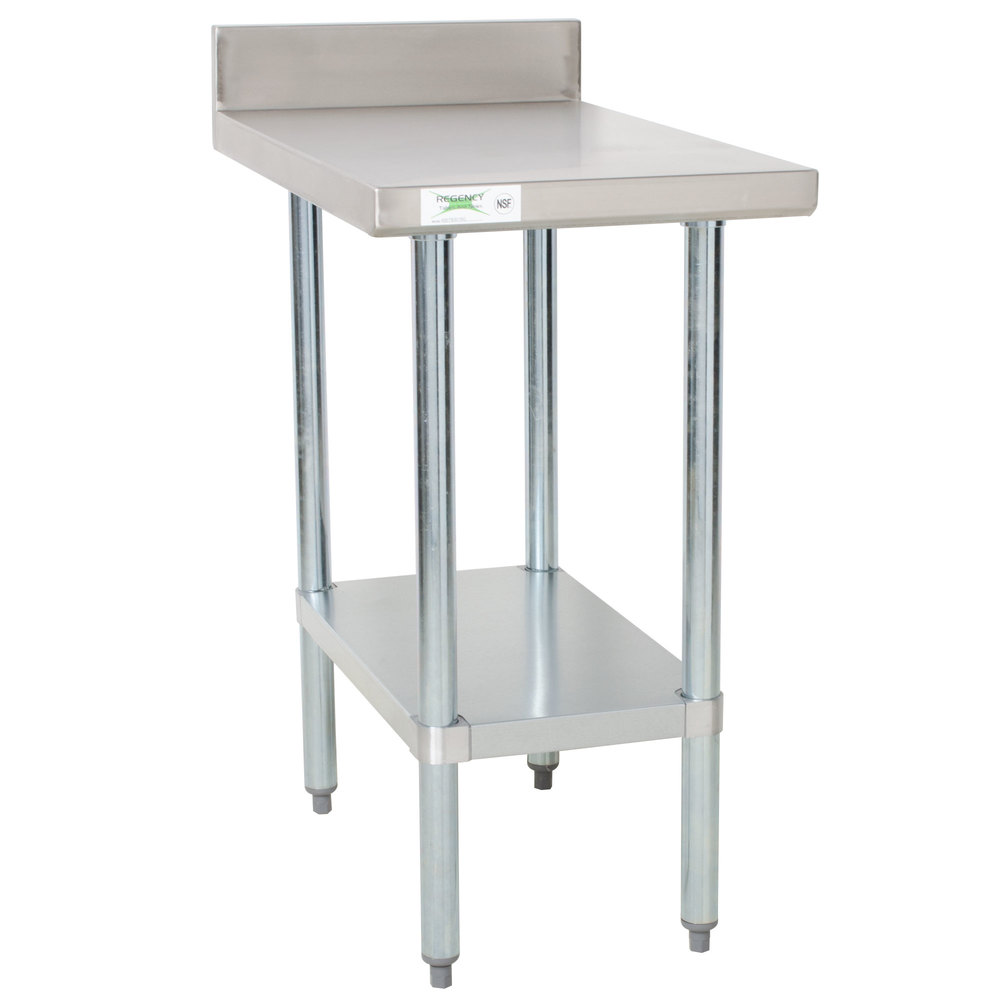 stainless steel equipment filler table with main picture - Stainless Steel Work Table With Backsplash