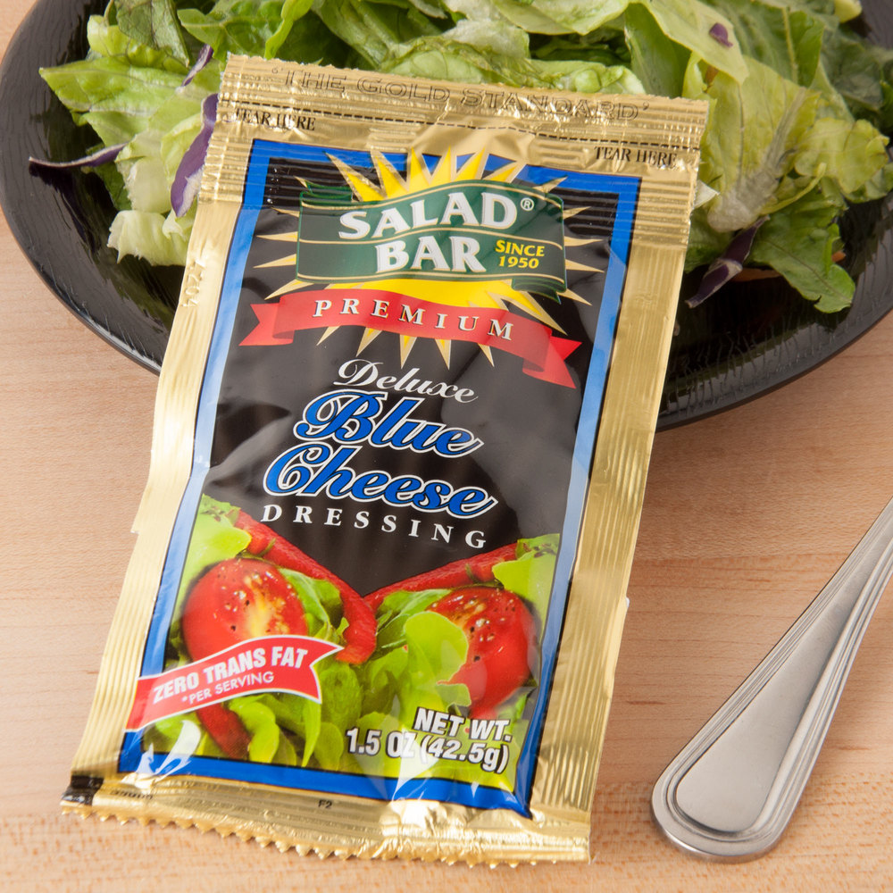 Single pack salad dressing