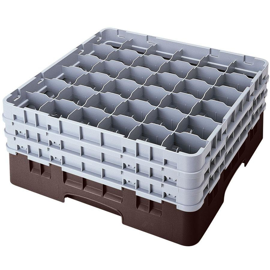 "Cambro 36S1114167 Brown Camrack 36 Compartment 11 3/4"" Glass Rack"
