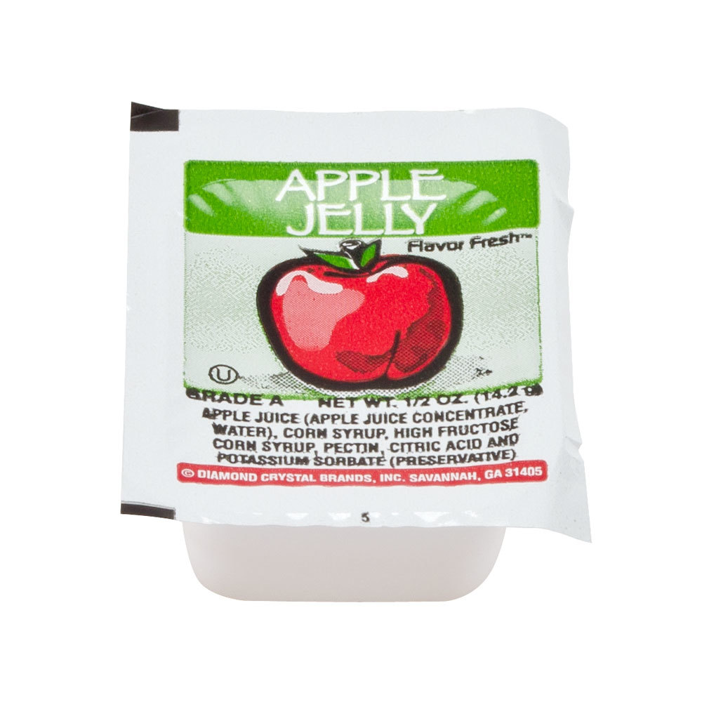 Apple Jelly - (200) .5 oz. Portion Cups / Case