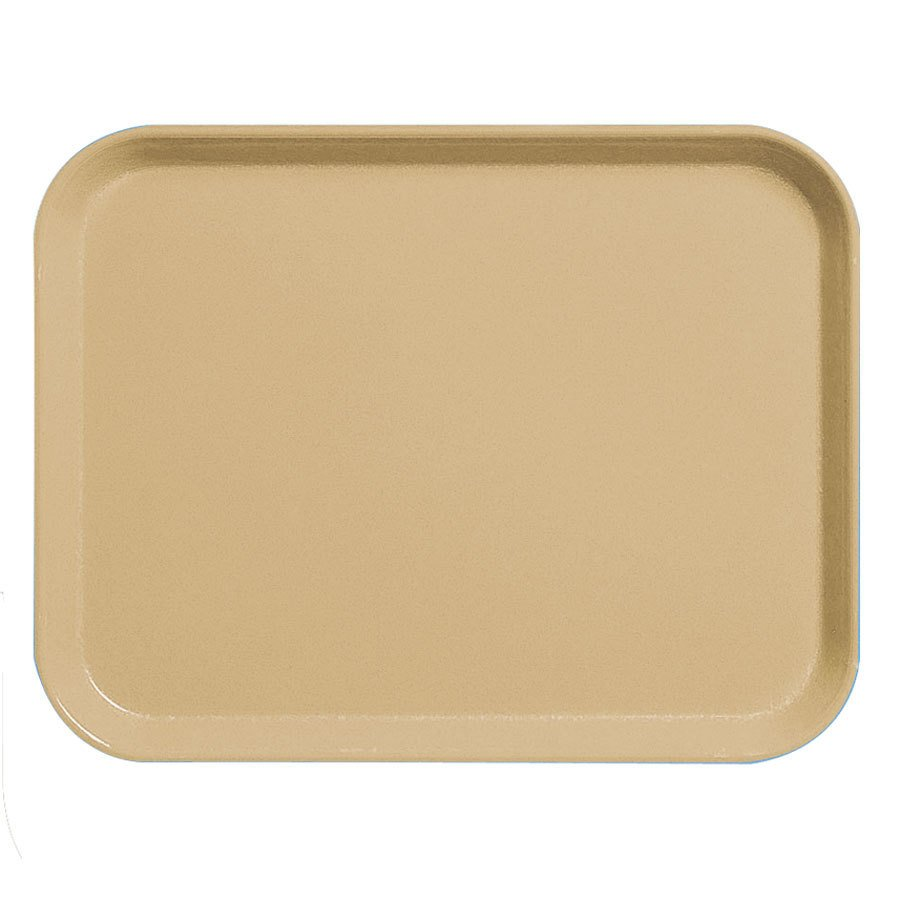 "Cambro 3253CL161 Camlite 13"" x 21"" Tan Tray - 12/Case"