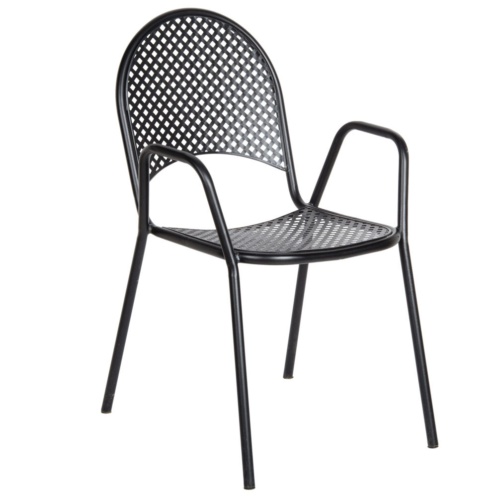 American Tables And Seating 90b Metal Black Outdoor Chair