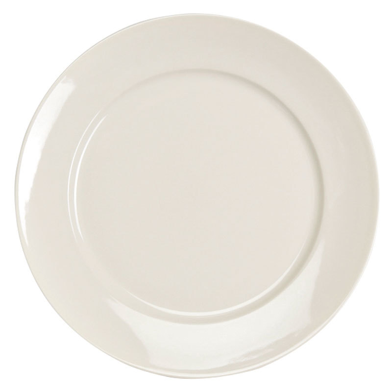 "Homer Laughlin 12092100 RE-21 9 5/8"" Ivory (American White) China Plate - 24/Case"