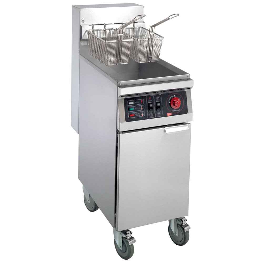 Cecilware EFP-40 Heavy Duty 40 lb. Electric Fryer - 240V, 3 Phase, 18000W