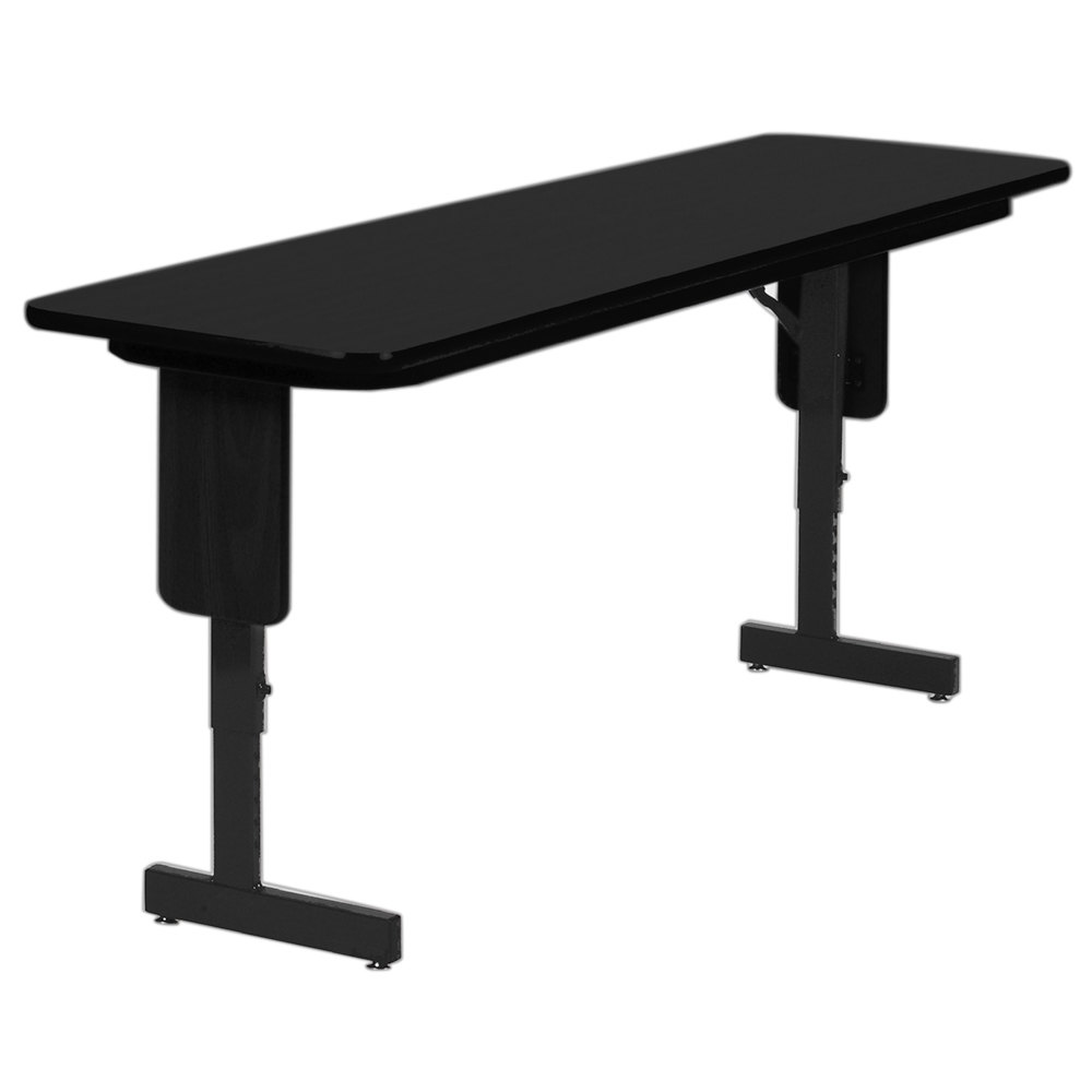 correll spa1872px07 18 x 72 black granite adjustable height panel leg folding seminar table. Black Bedroom Furniture Sets. Home Design Ideas