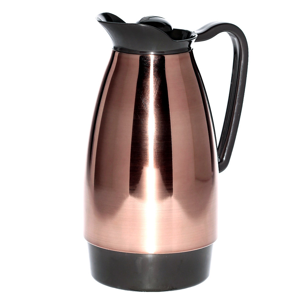 Coffee Maker Glass Lined Carafe : Service Ideas CGC101CP Classic Copper 1 Liter Glass Lined Carafe