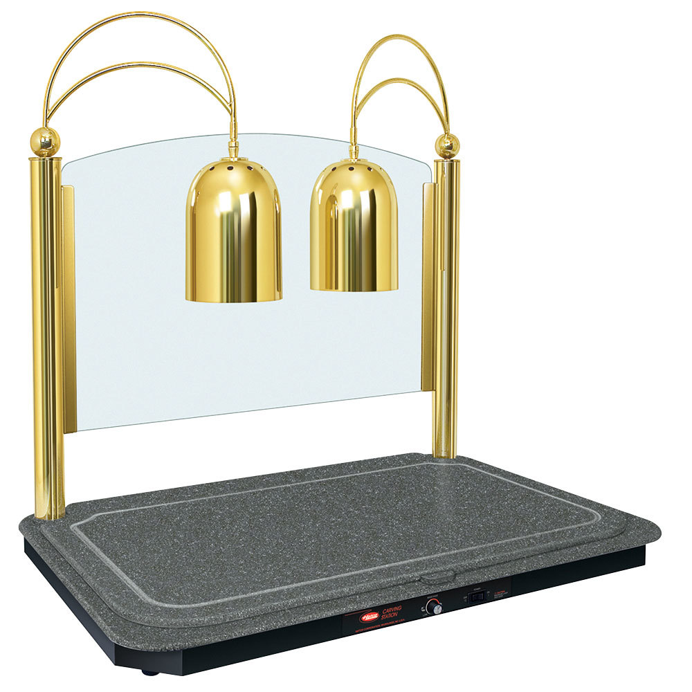 Hatco Dcsb400 3624 2 Dual Lamp Decorative Carving Station With Night Sky Colored Heated Base And