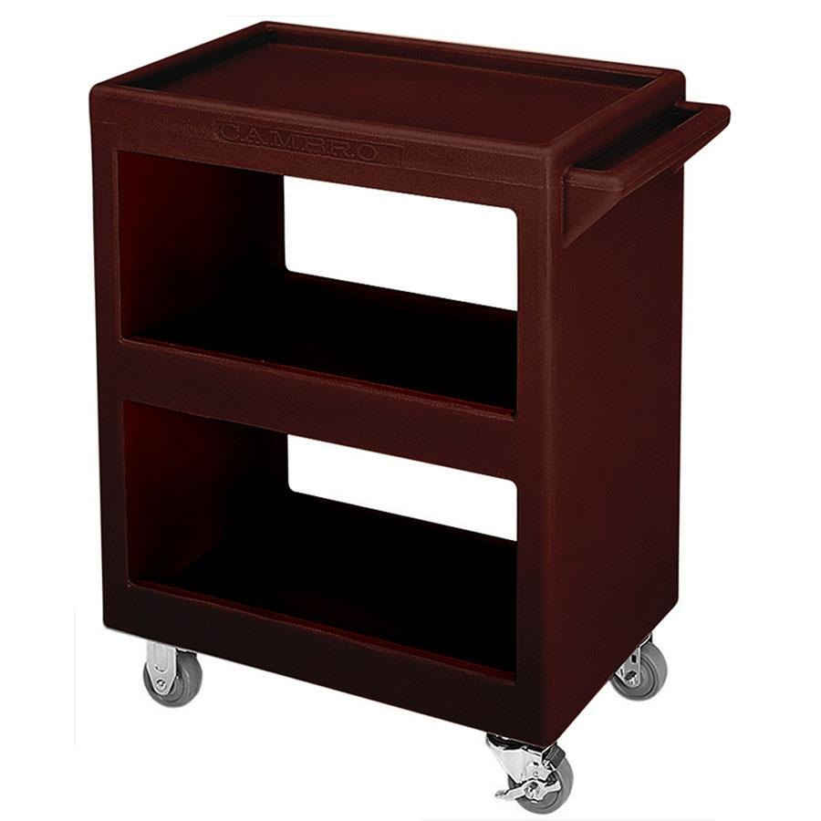 "Cambro BC225131 Dark Brown Three Shelf Service Cart - 28"" x 16"" x 32 1/4"""