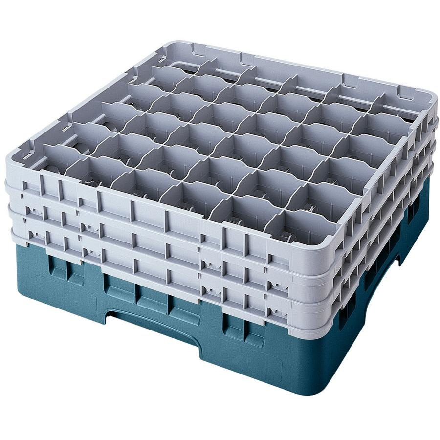 "Cambro 36S900414 Teal Camrack 36 Compartment 9 3/8"" Glass Rack"