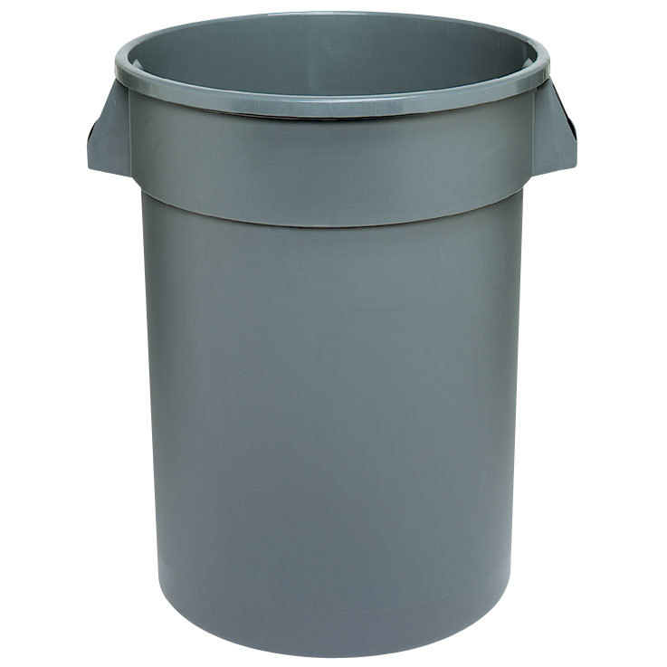 Continental 2000GY 20 Gallon Gray Huskee Trash Can