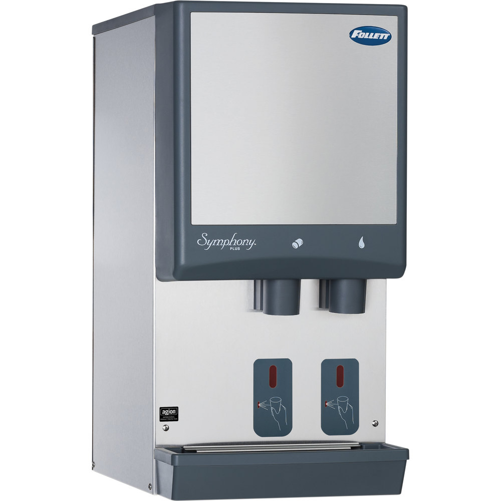 Water Cooler Coffee Maker Combo : Follett 12CI425A-S Symphony Countertop Air Cooled Ice Maker and Water Dispenser - 12 lb.
