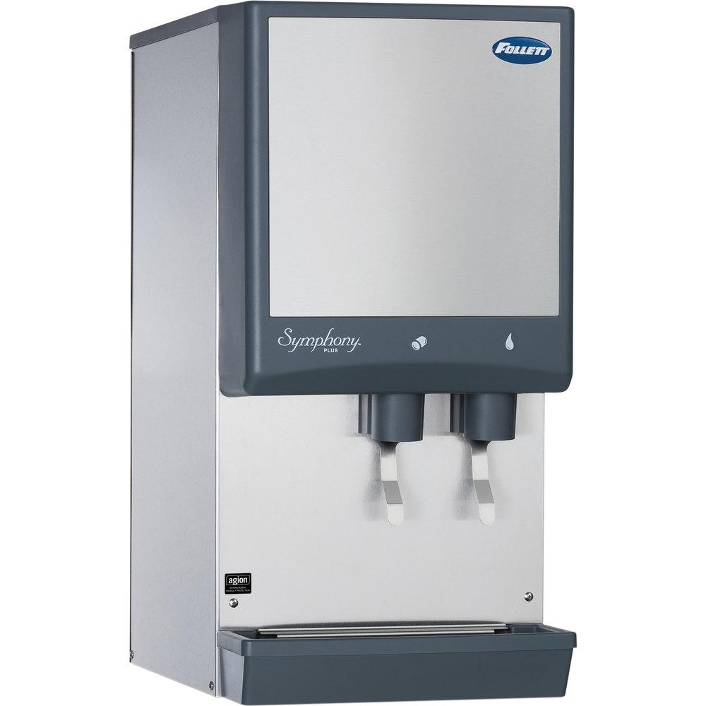 ... -LI Symphony Countertop Air Cooled Ice Maker / Dispenser - 12 lb