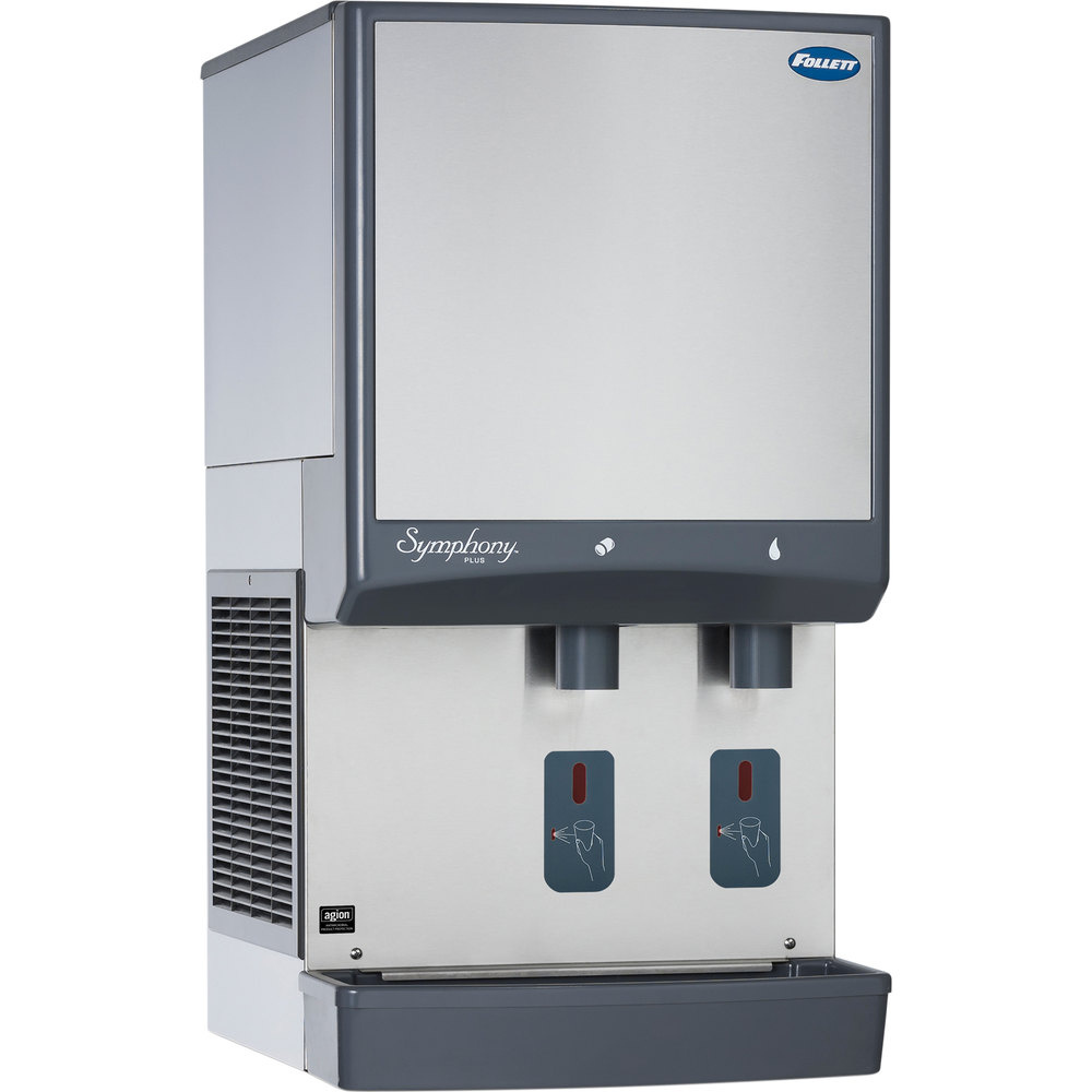 ... -SI Symphony Countertop Water Cooled Ice Maker / Dispenser - 50 lb