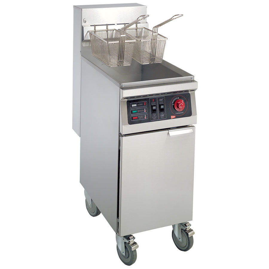 Grindmaster Cecilware 220V 3 Phase Cecilware EFS-40 Heavy Duty 40 lb. Electric Fryer with Stainless Steel Tank - 18000W at Sears.com