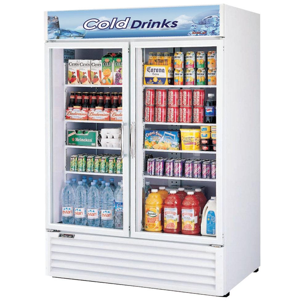 Glass Refrigerator Turbo Air Tgm 50rs White 56 Two Glass Door Refrigerator 50 Cu Ft