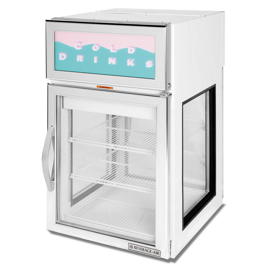 Countertop Refrigerator : -Air CRD5GE-1W-GS White Pass-Through Countertop Display Refrigerator ...