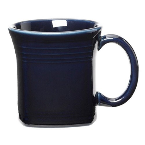 Homer Laughlin 923105 Fiesta Cobalt Blue 13 oz. Square Mug - 12 / Case