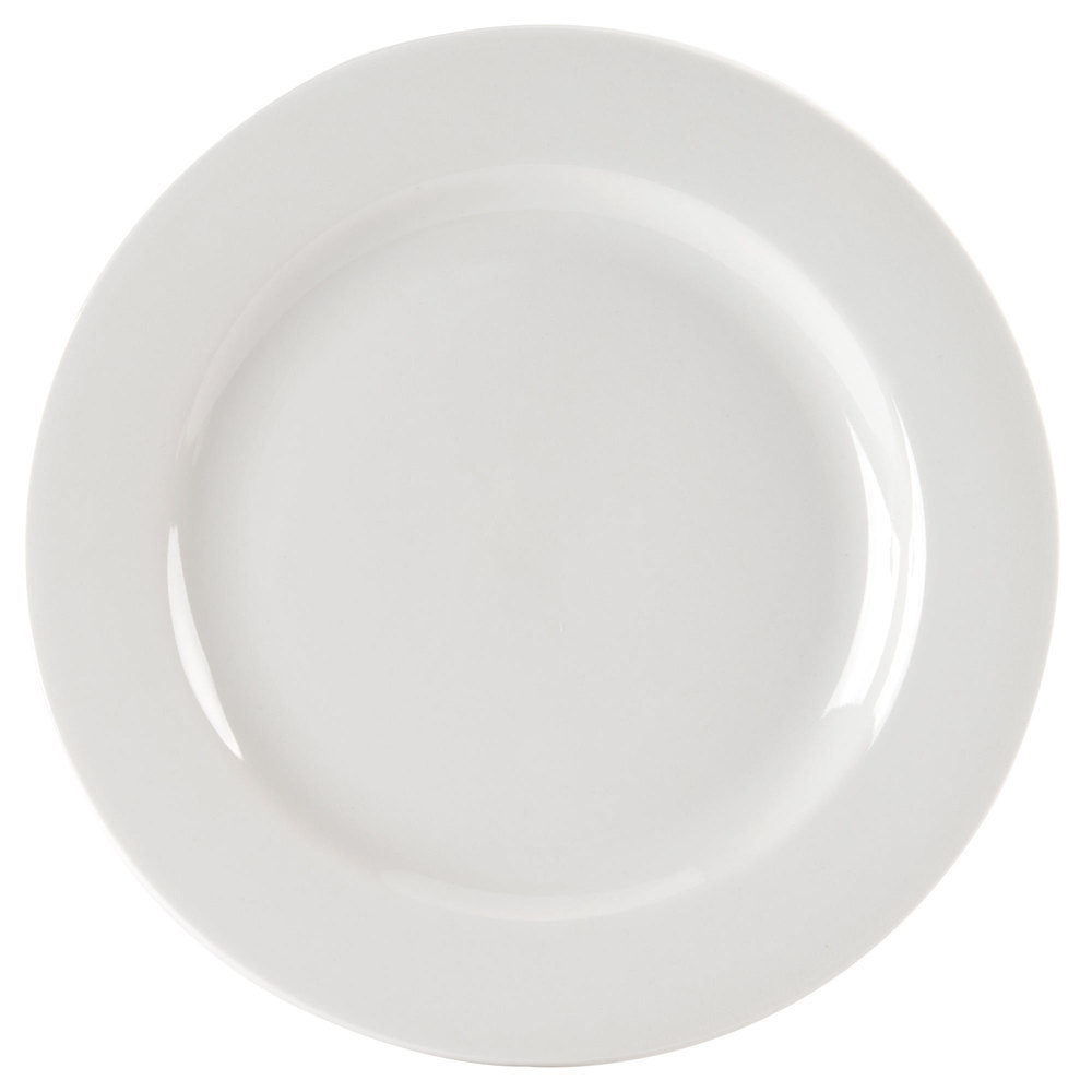 "Homer Laughlin 6356000 Pristine 7 3/8"" Bright White China Plate - 36/Case"