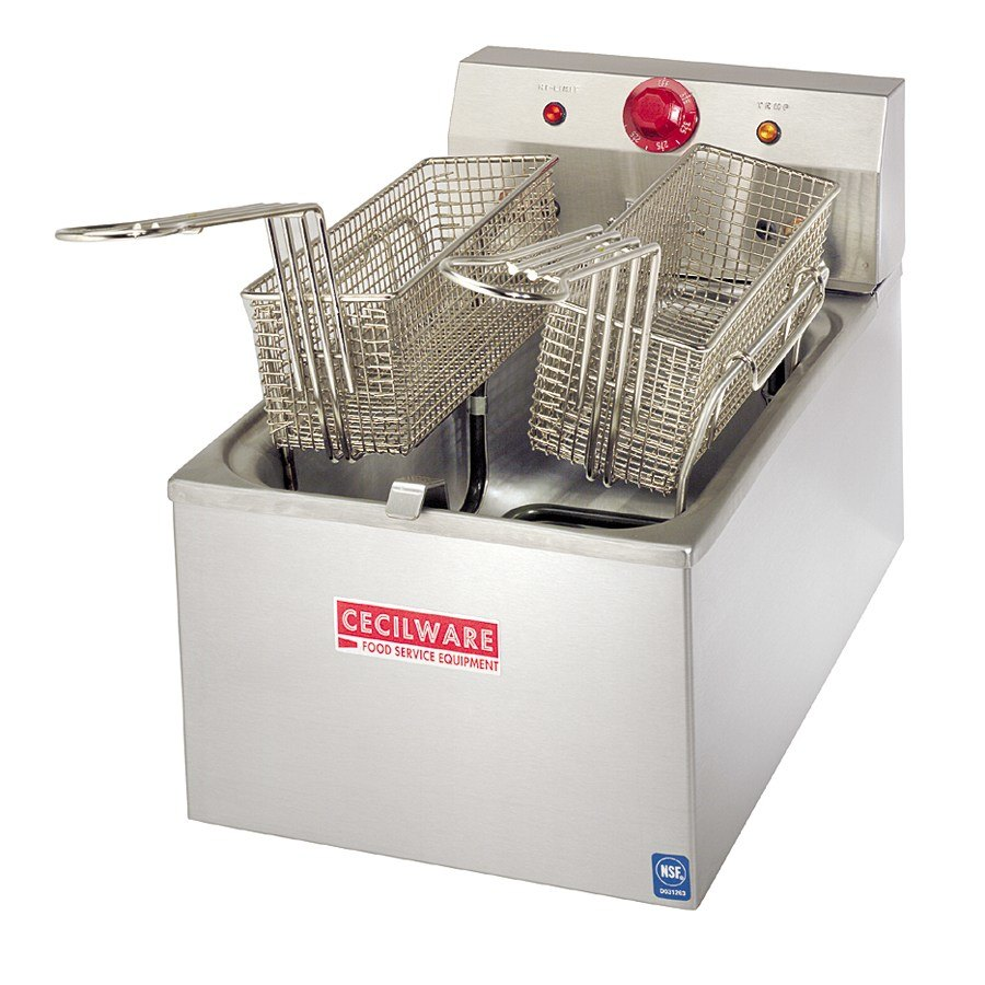 Grindmaster Cecilware Cecilware EL-120 Stainless Steel Commercial Countertop Electric Deep Fryer with 15 lb. Fry Tank - 1800W at Sears.com