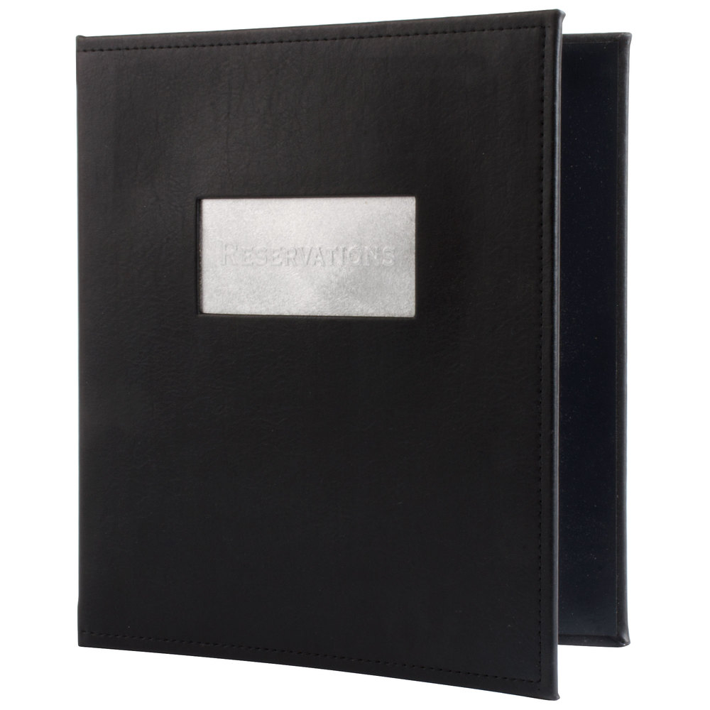 Menu Solutions MWR020 Black Faux Leather Reservation Binder