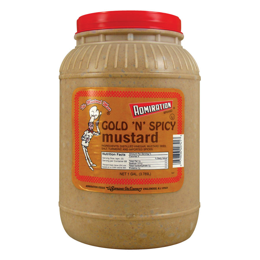Admiration Gold N Spicy Mustard - (4) 1 Gallon Containers / Case