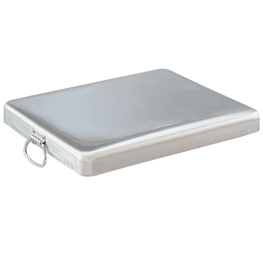 "Vollrath 68392 Wear-Ever 14 Qt. Heavy-Duty Aluminum Roast Pan Cover with Handles - 21 5/8"" x 18 1/8"" x 2 3/8"""