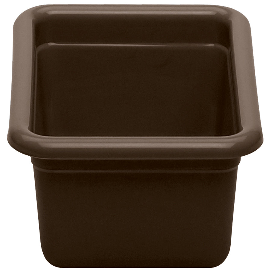 Cambro 912CBP131 Dark Brown Polyethylene Plastic Utility Box