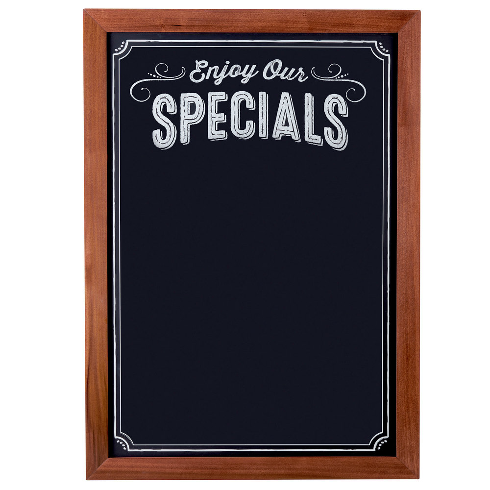 Cal Mil 3031 2435 Chalkboard Sign With Pre Printed Header Quot Enjoy Our Specials Quot 27 1 2 Quot X 37 1 2 Quot
