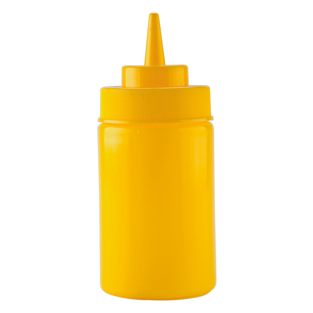 12 oz. Yellow Wide Mouth Squeeze Bottle 6/Pack