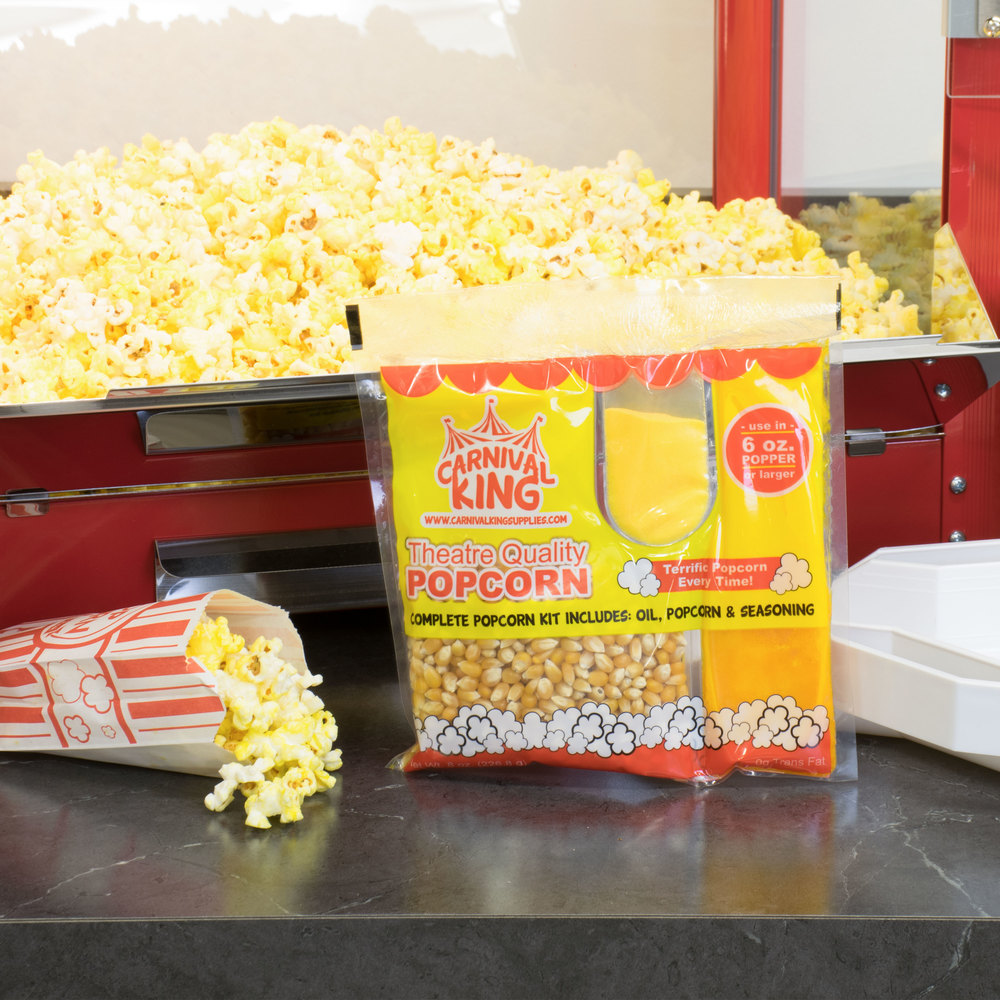 Carnival King All-In-One Popcorn Kit for 6 oz. Popper - 36/Case