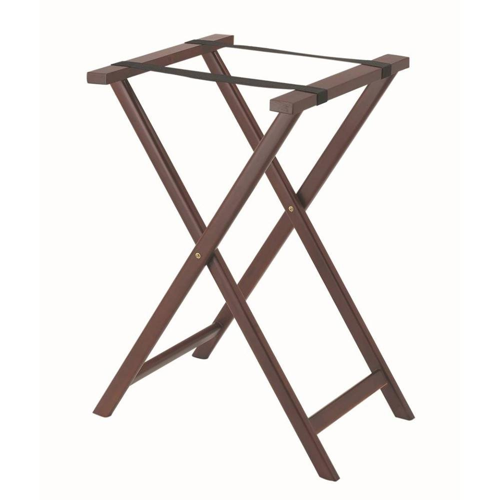 Aarco Mahogany Folding Wood Tray Stand - 31""