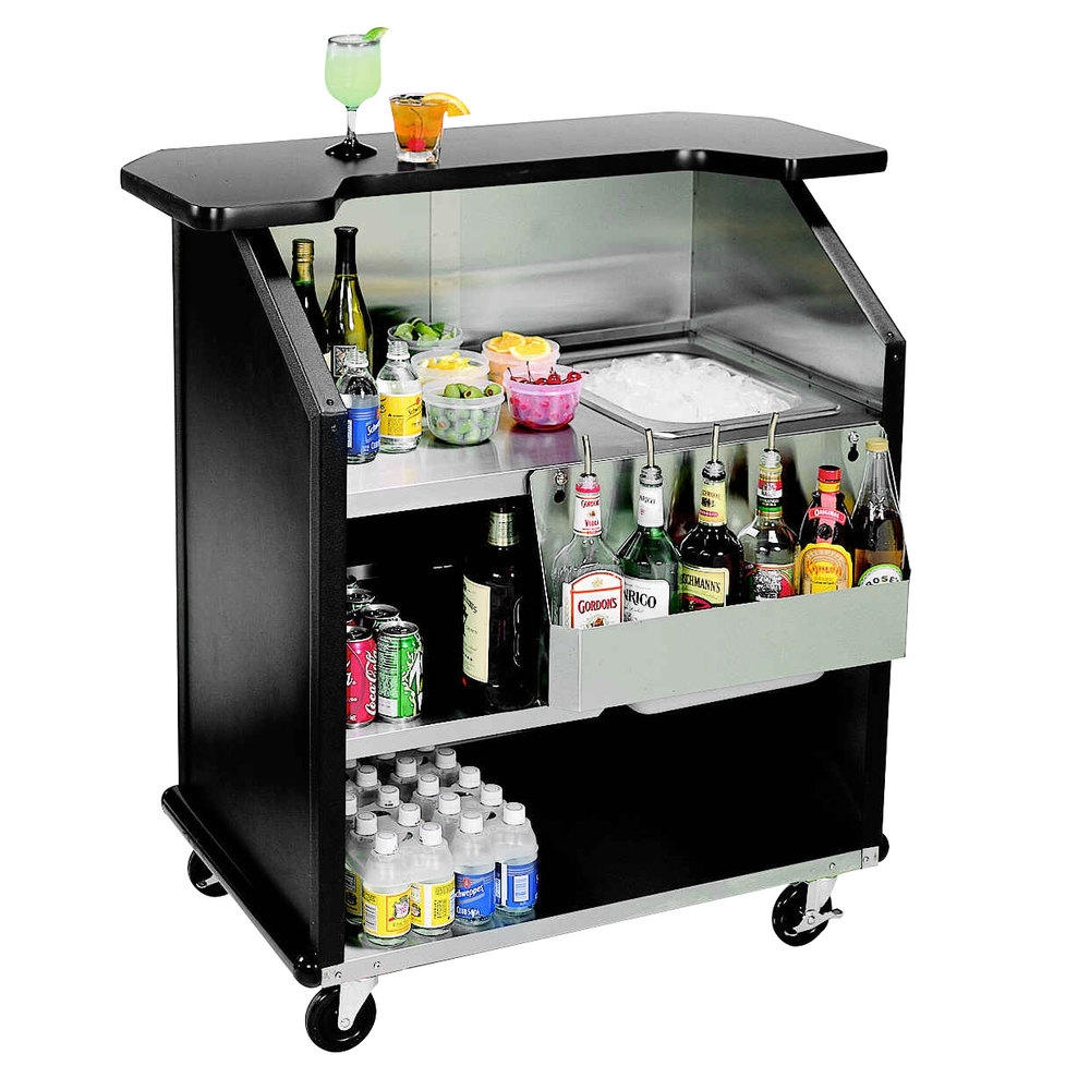 Lakeside 884 43 Quot Stainless Steel Portable Bar With Black