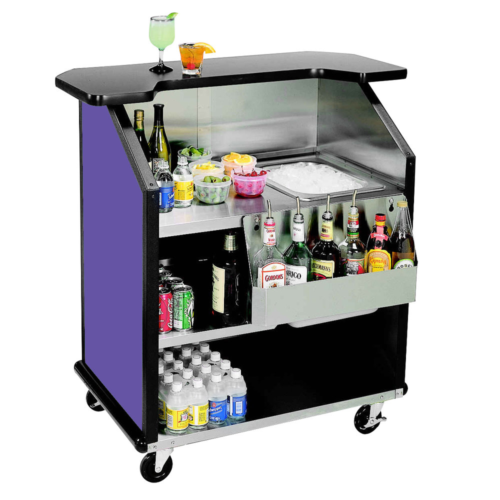 Lakeside 884 43 Quot Stainless Steel Portable Bar With Purple
