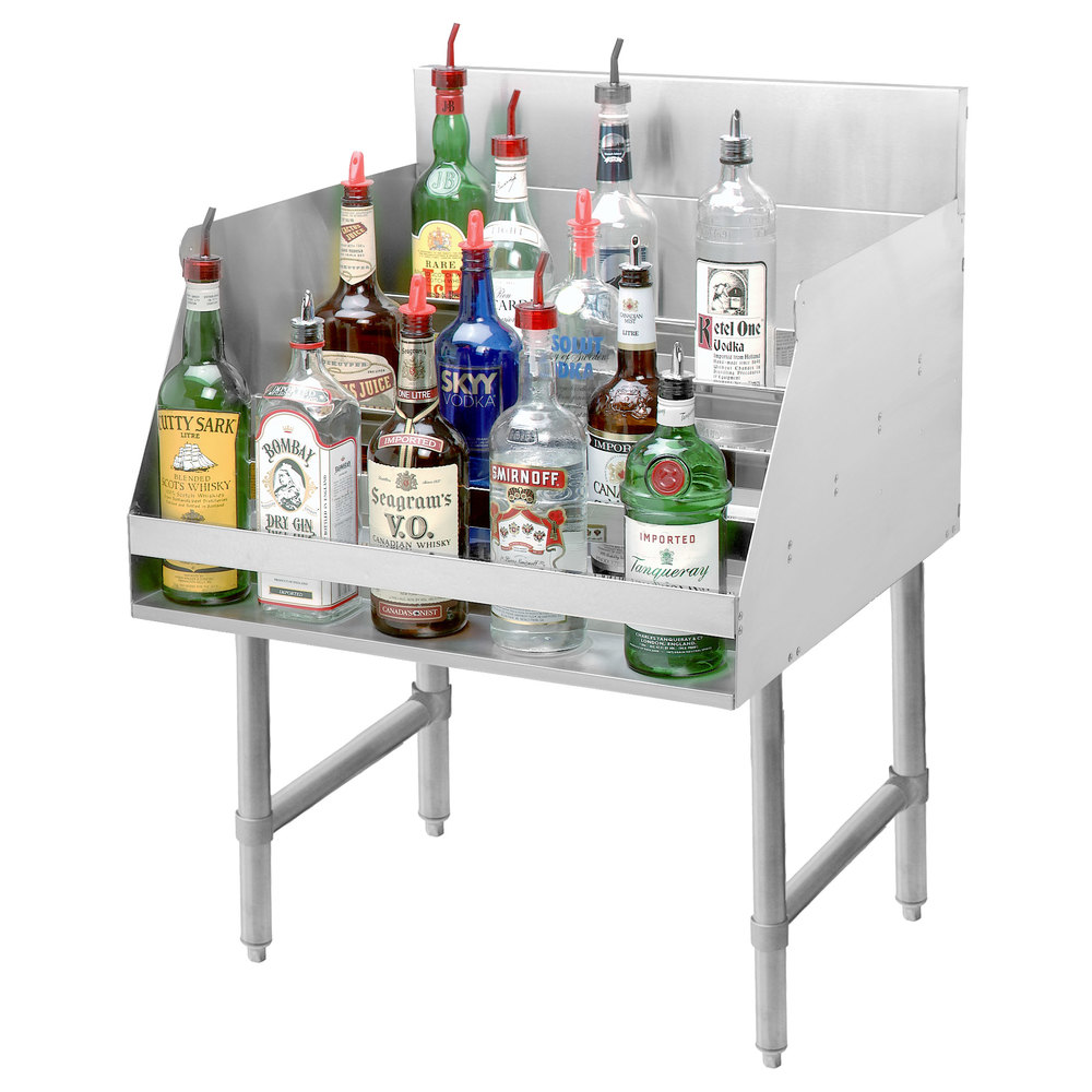 Advance Tabco Ld 2112 Stainless Steel Liquor Display Rack 12 X 26 Jpg