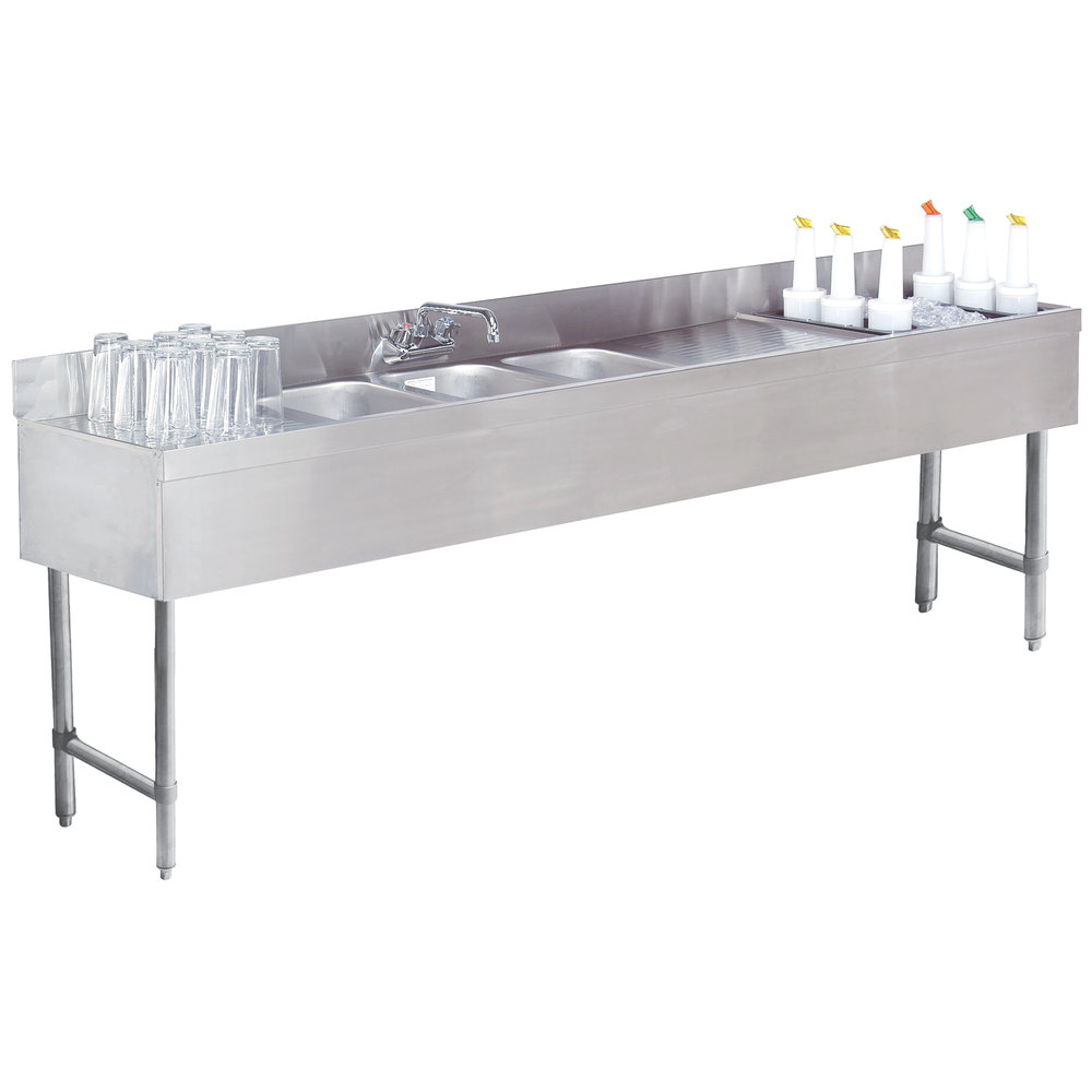 Advance Tabco Slc 83c R Three Compartment Stainless Steel
