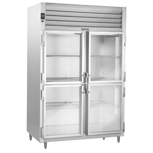Traulsen RHT232WUT-HHG Stainless Steel 51.6 Cu. Ft. Glass Half Door Two Section Reach In Refrigerator - Specification Line