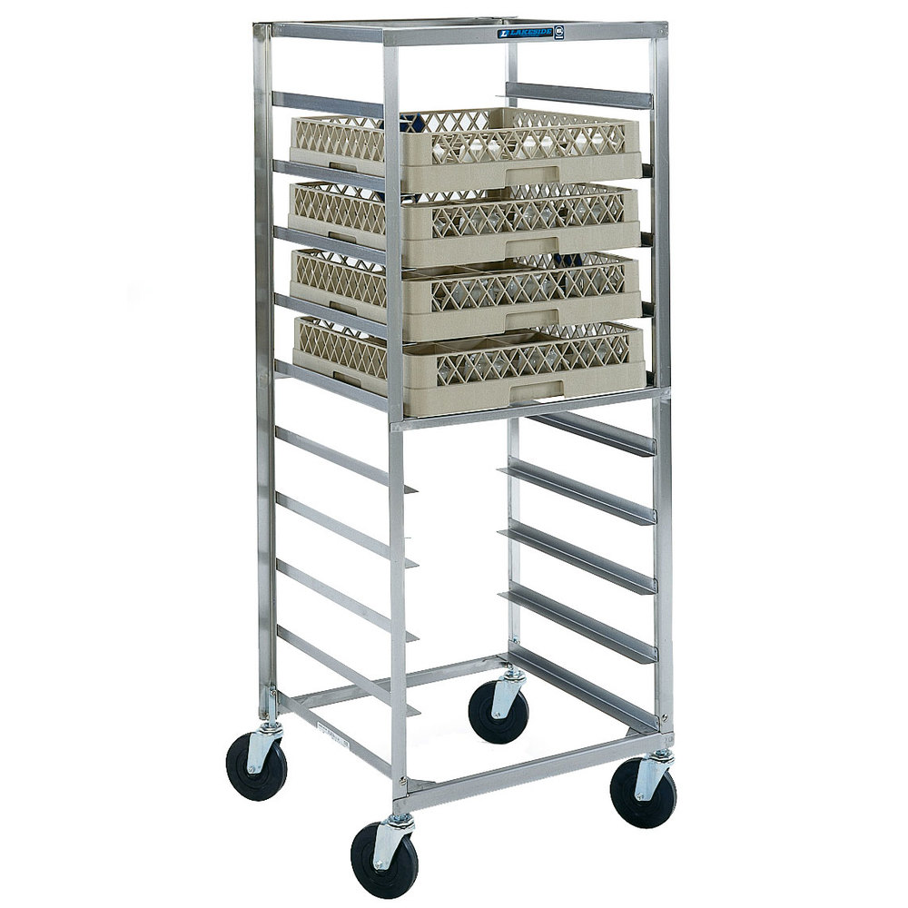 Lakeside 198 Stainless Steel Mobile Glass Rack Cart 22