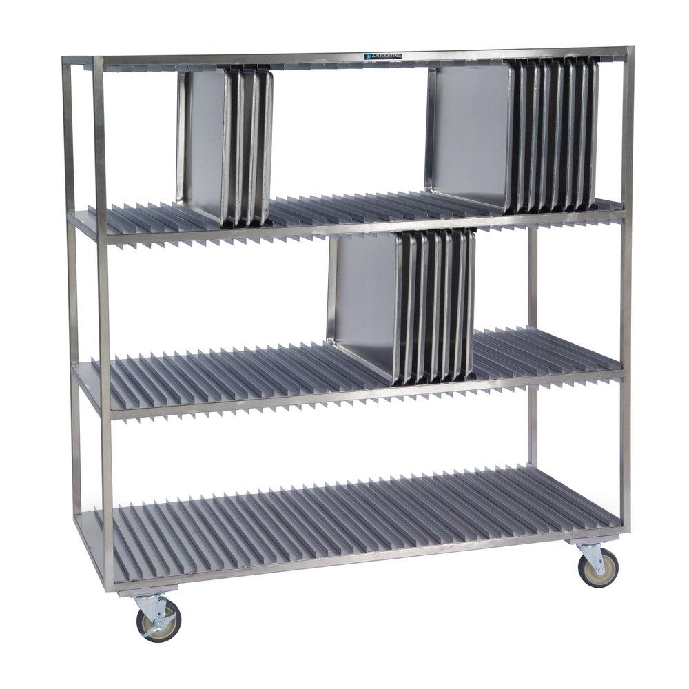 lakeside 848 stainless steel sheet pan drying rack 120 pan capacity